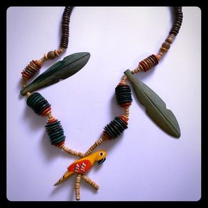 Parakeet necklace beautifully made and unique